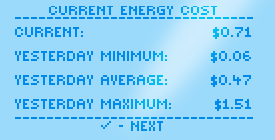 HōlHōm Current Energy Cost