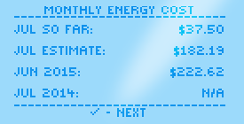 HōlHōm Monthly Energy Cost